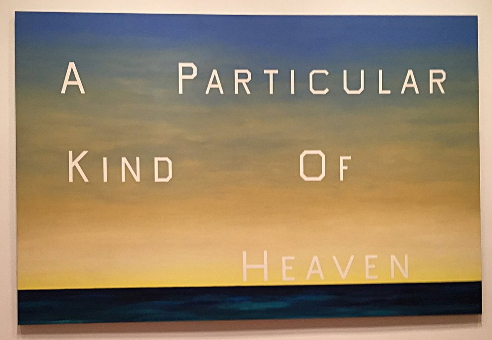 ed ruscha exhibit at the de Young museum