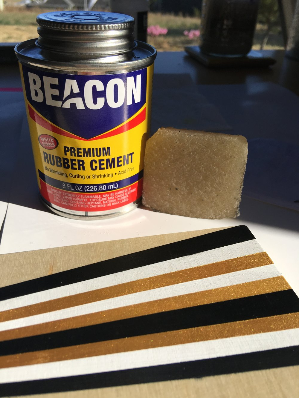 Rubber cement and the lifesaving rubber cement eraser.