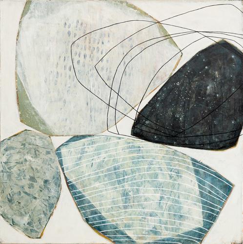 Tout atour - 36 x 36 - acrylique sur toile  Karine Leger