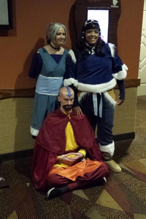 Photo courtesy of   Sean Vichinsky   ; featuring Danielle as Kya and  WOLF Cosplay  as Korra