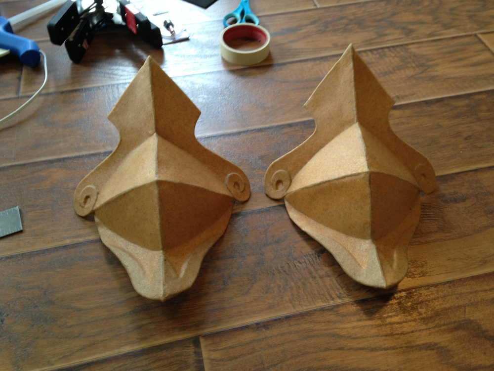 And the fully worbla-ed pieces