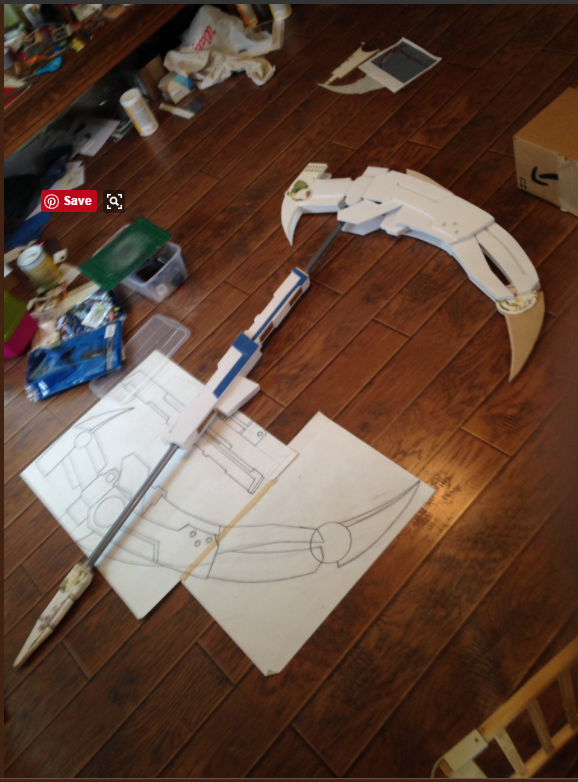 Ok yes, you're seeing the pattern with the nearly finished prop, but it's the only photo I could find >_<