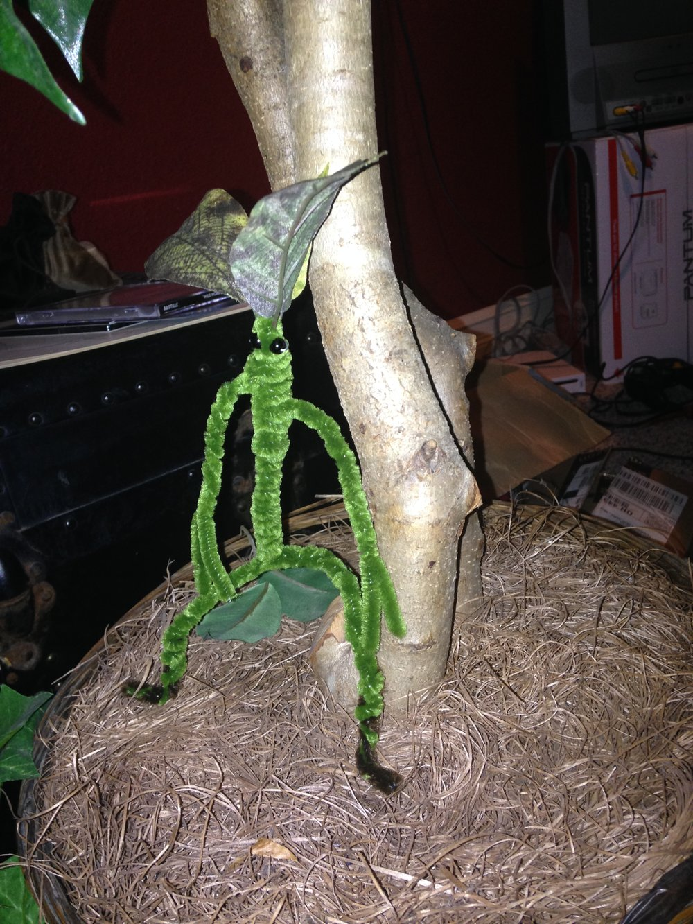 One of the fan favorites from the film Fantastic Beasts and Where to Find Them, the bowtruckle was one of the first magical creatures I figured out how to produce, and one of the ones I can make expeditiously enough to sell.