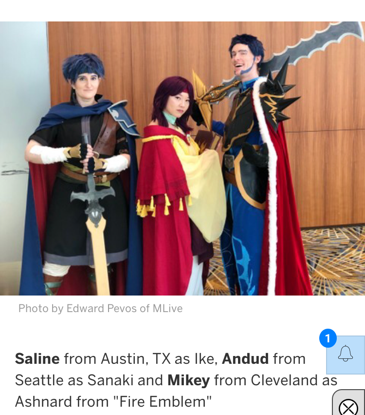 Apparently they think my friend is a very salty solution lol  Here's a link to the article , there are lots of great cosplays to see!