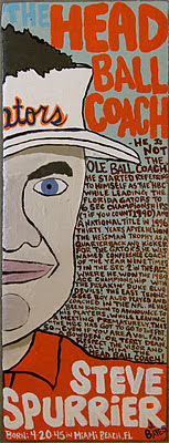 HEAD BALL COACH /  acrylic on wood / SOLD