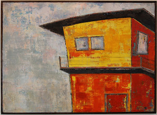 "GENE'S PLACE / mixed media on canvas / 68"" x 49.5"" / SOLD"