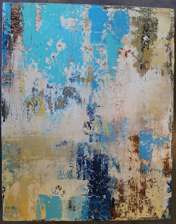 "FAVORITE BLUES / mixed media on canvas / 22.5"" x 28.5""/ SOLD"