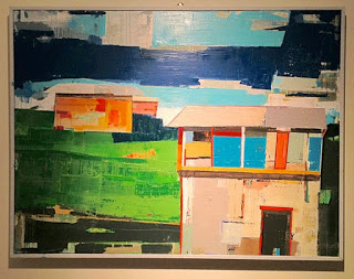 KAHUKU TOWN / mixed media on canvas /framed/ SOLD