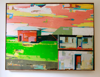 MAGIC HOUR IN KAHUKU TOWN / 36' x 48' oil/mixed media on wood - SOLD