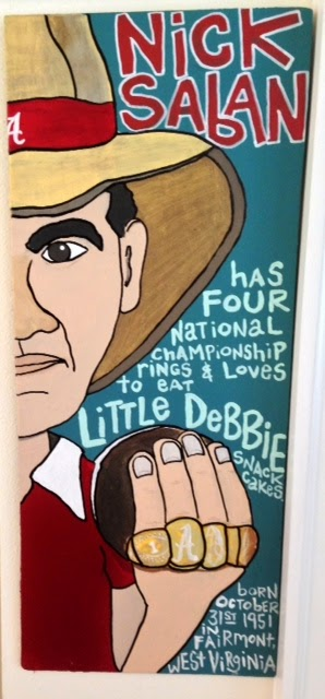 NICK SABAN - LITTLE DEBBIE /  paint on wood /  SOLD