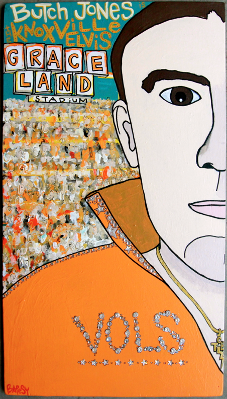 BUTCH JONES /  mixed media on wood / 330 SOLD