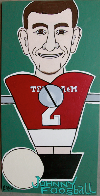 JOHNNY FOOSBALL /  paint on wood / 320  SOLD