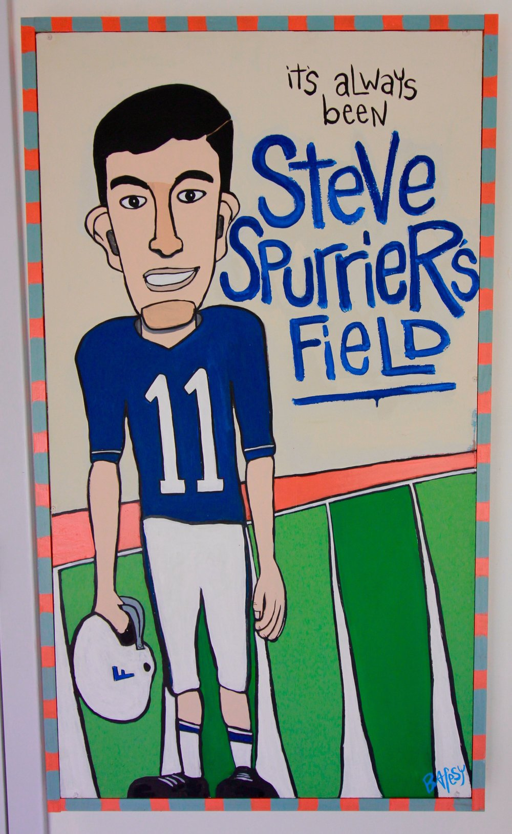 "Steve Spurrier's Field / 26""x45"" / 1000 / paint on wood / SOLD"