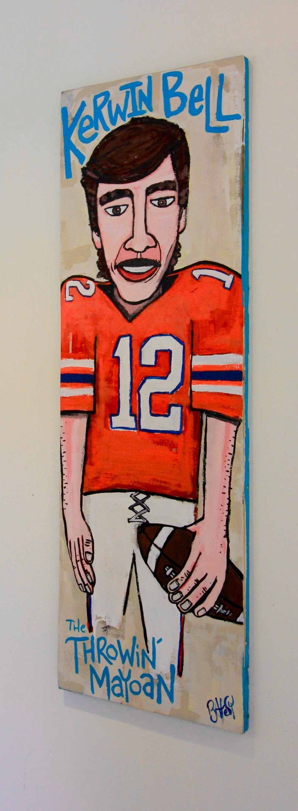 "The Throwin' Mayoan - Kerwin Bell / 16.5""x48"" / Commissioned / SOLD"