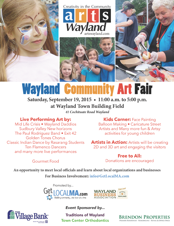 Wayland Community art fair - 2015