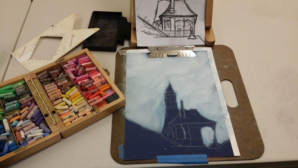 Arts Wayland-Pastel work at drop in Dec 2016-3.jpg