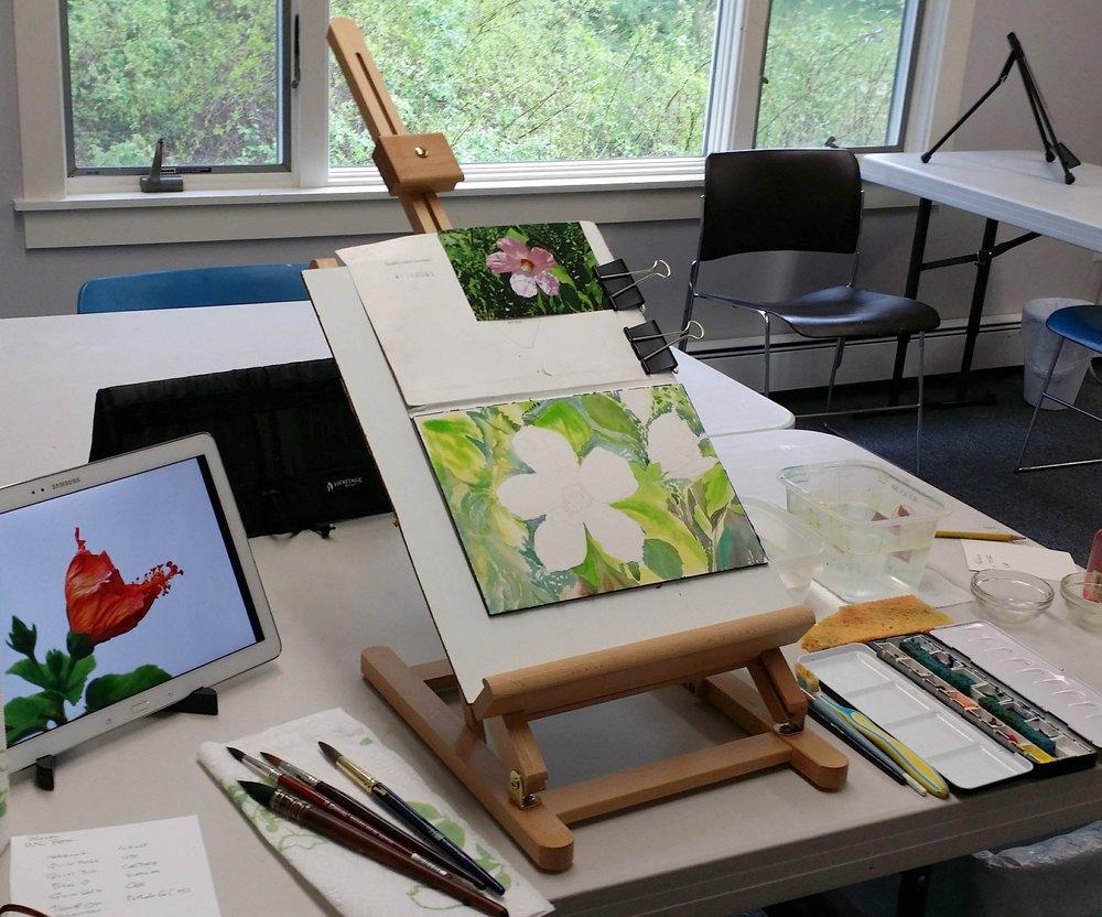 Nancy watercolor at dropin.jpg
