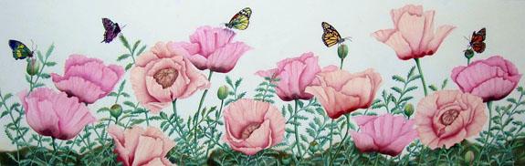 5 Butterflies - watercolor by Margret Krakauer