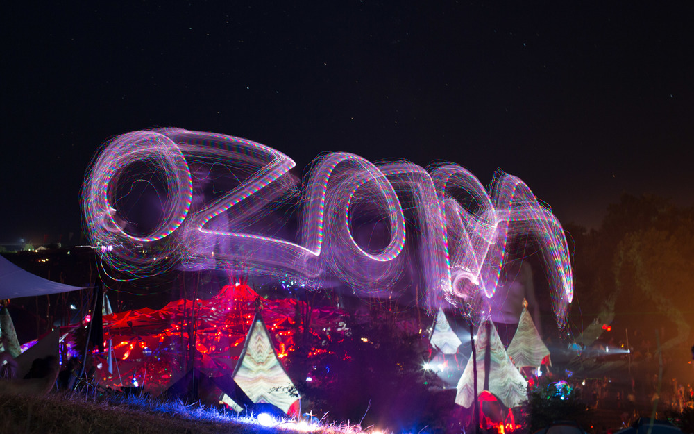 Some light painting at the main stage.