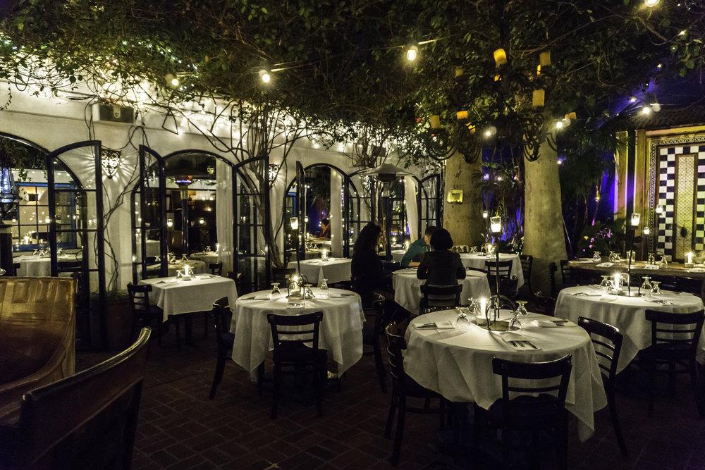 The Little Door main dining terrace
