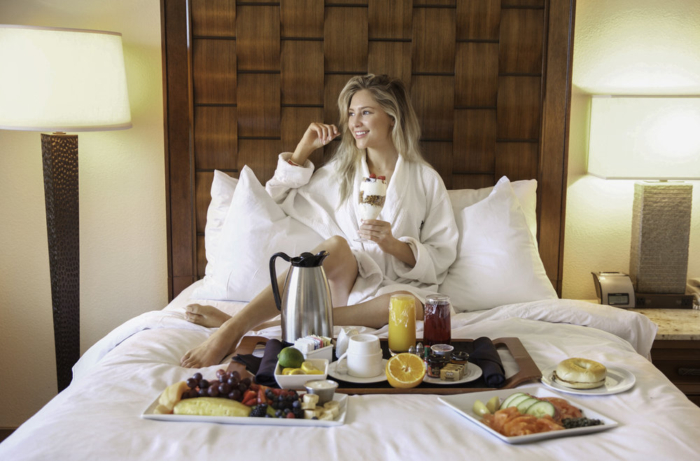 Breakfast in bed by  JW Marriott Desert Springs