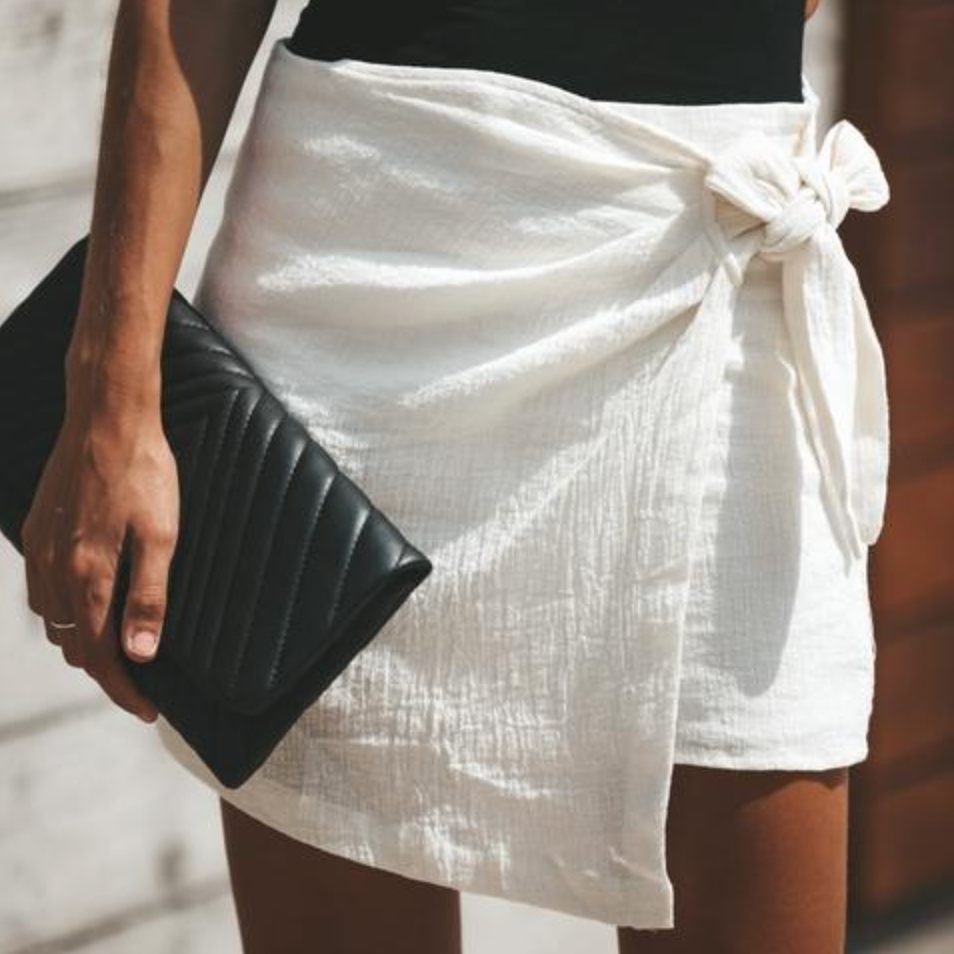 Alexis Cotton Wrap Skort