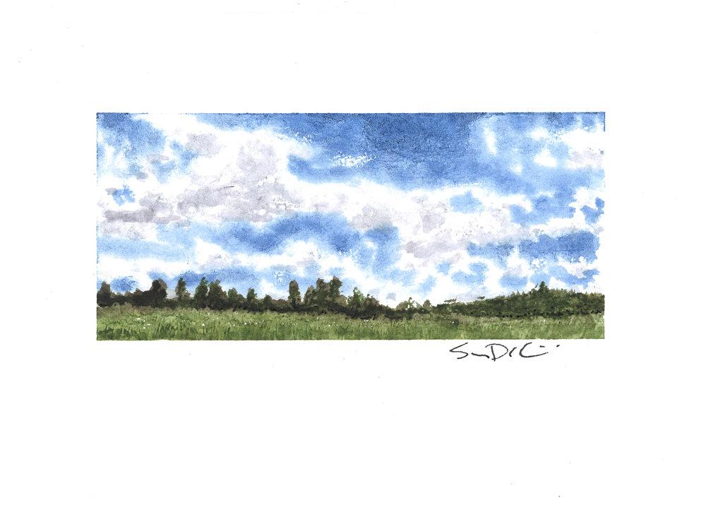 blue skies II - SOLD