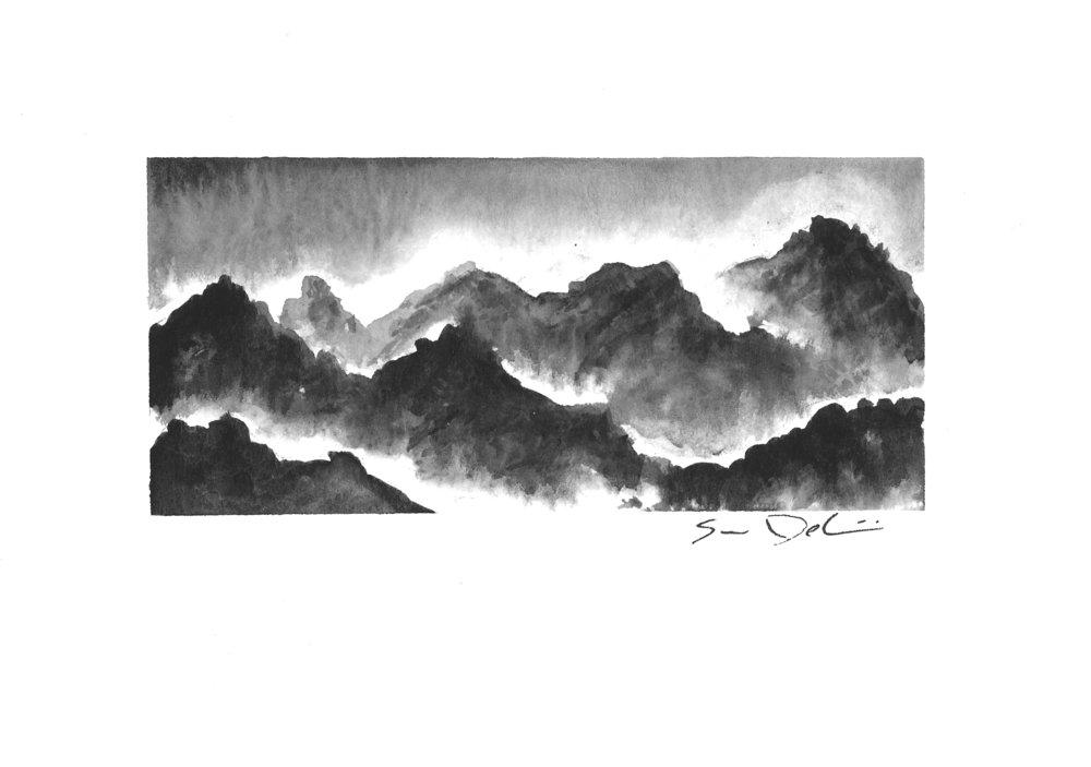 peaks among the mist II