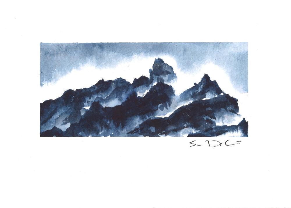peaks among the mist