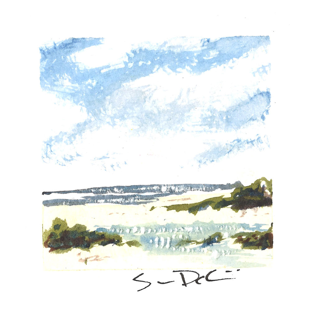 blue skies over tidepools