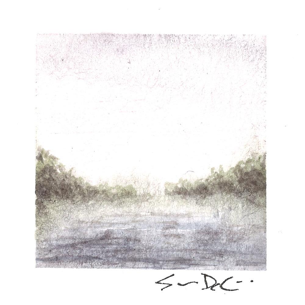 morning fog over the lake