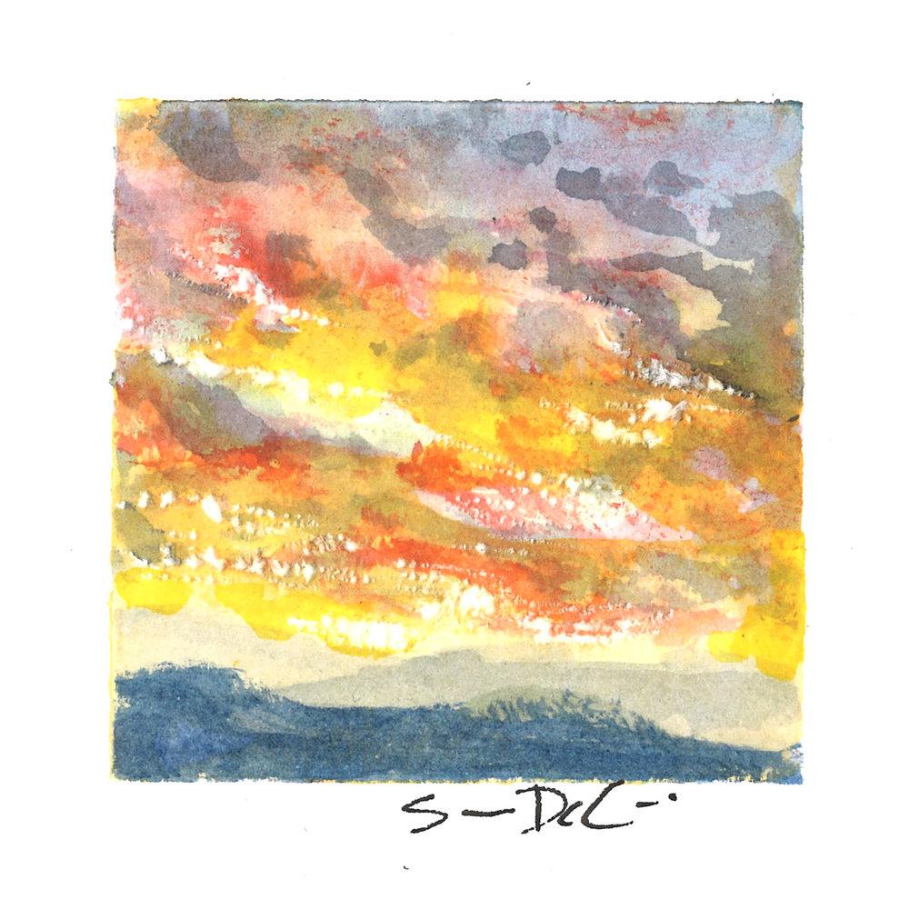 sky on fire II - SOLD