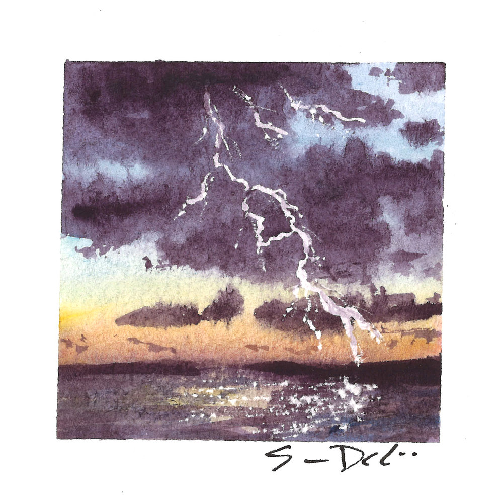 storm at sunset - SOLD