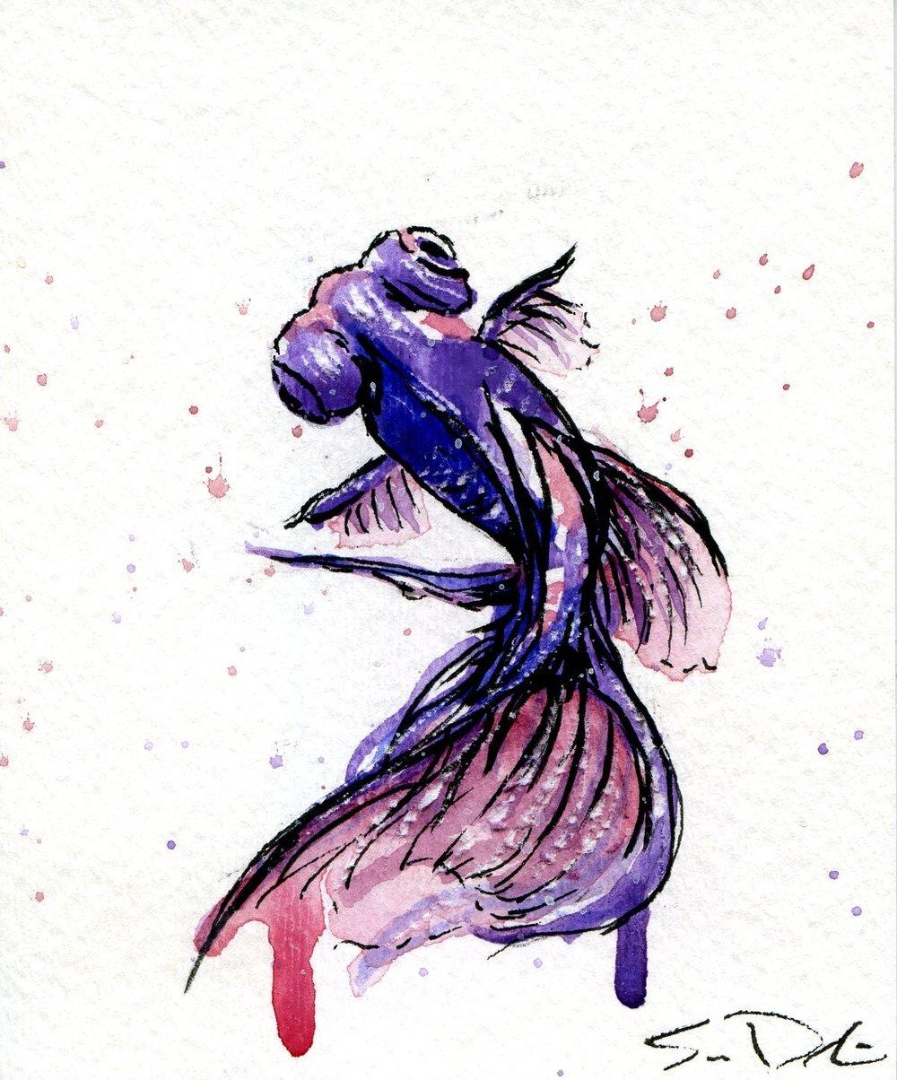 bubble eyes in violet