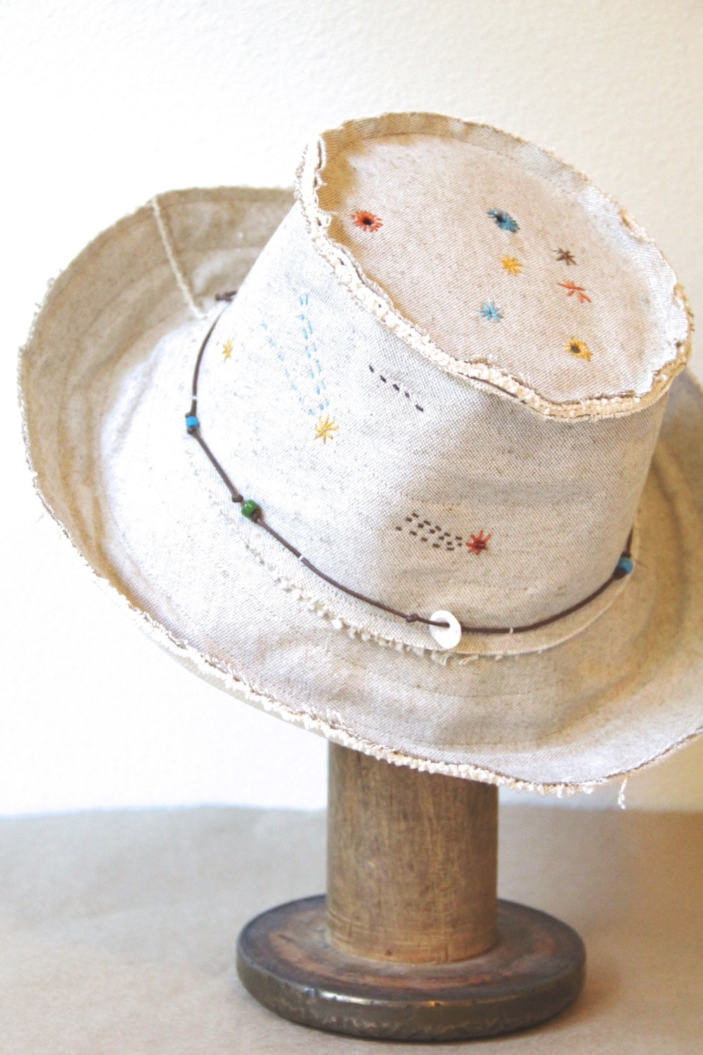 'constellation' handmade sun 'n shade hat
