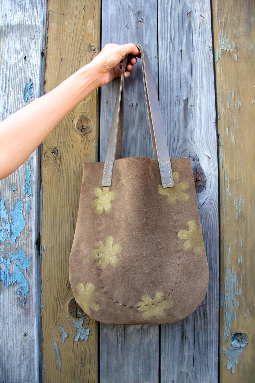'Wayfinding' Handmade Suede Bag