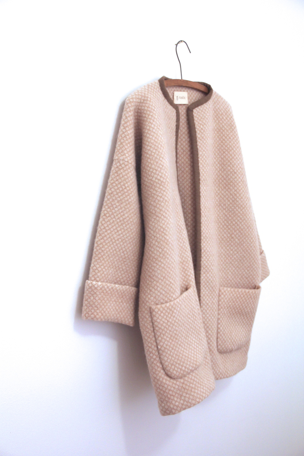 'cafe au lait' cocoon coat