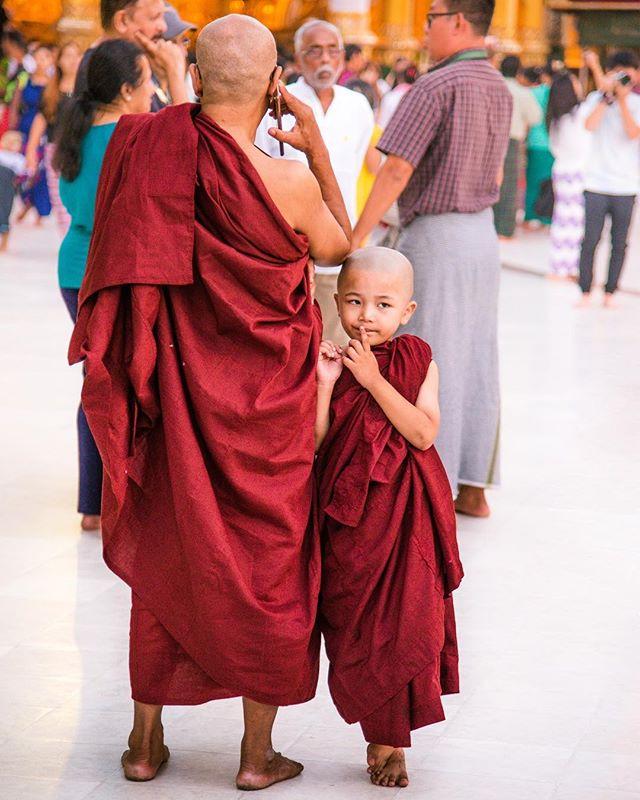 Monk in training