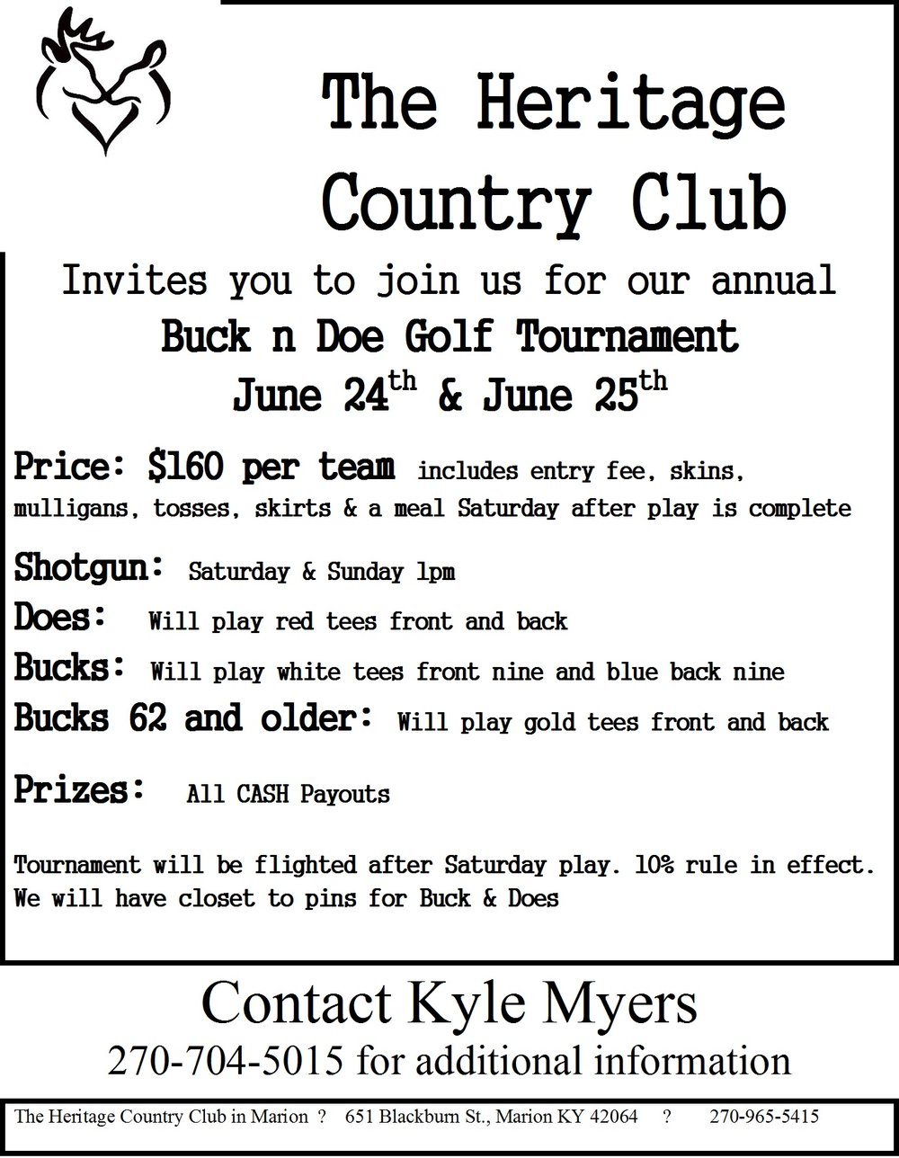 buck n doe coming soon u2014 the heritage at marion country club