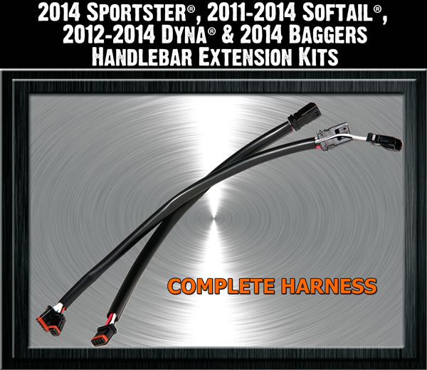 Guerrilla Cables 2014-18 Bagger Harnesses, 2014-17 Sportster®, 2011 on harley davidson wiring harness kit, cooling fan wiring harness, harley motorcycle helmet kit diagram, harley sportster wire schematics, harley speedometer wiring diagram 2012,