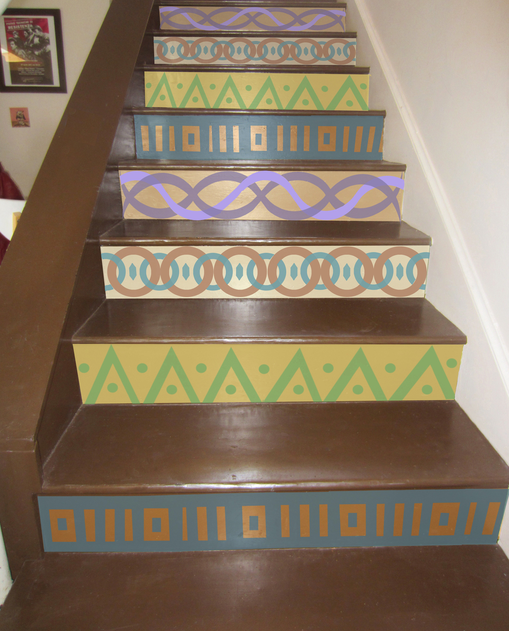 Stair riser design by Nathalie Tierce