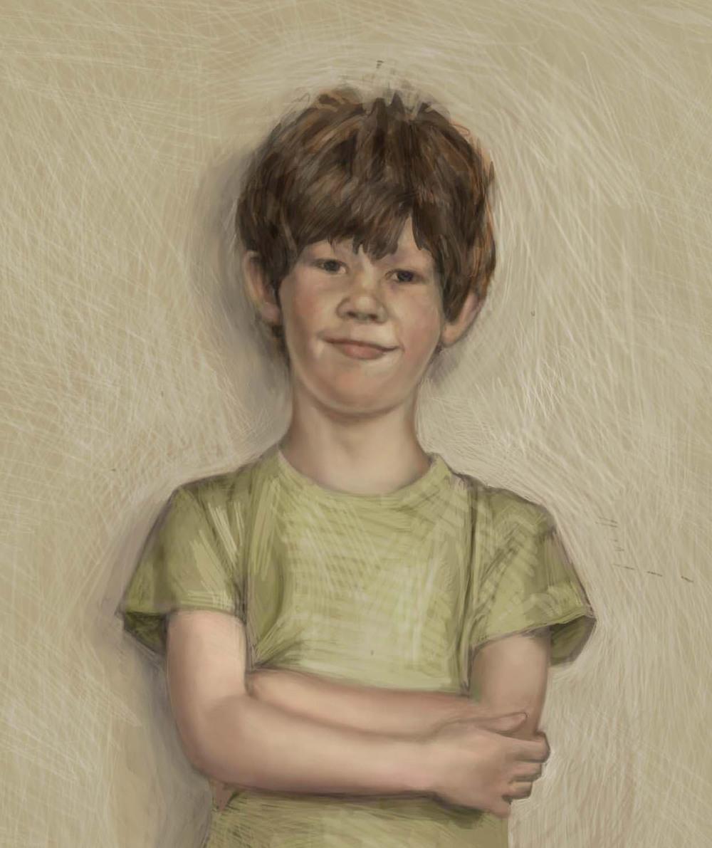 """Joshua"" (detail) by Nathalie Tierce"