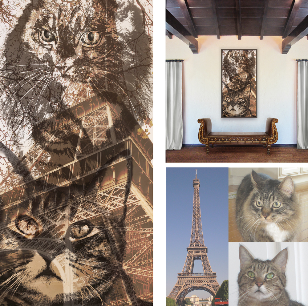 """""""Cats in Paris"""" by Nathalie Tierce"""