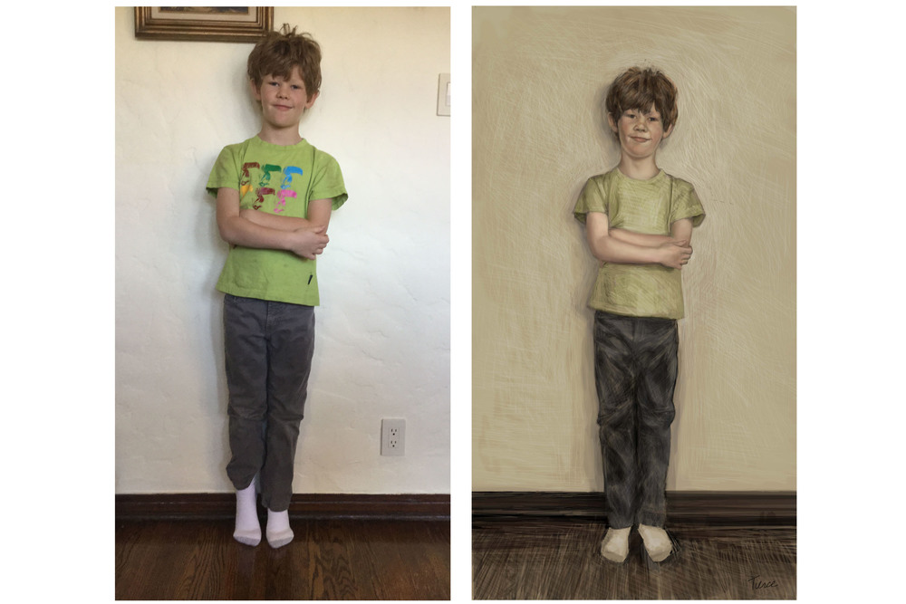 Photograph and Painted Portrait by Nathalie Tierce