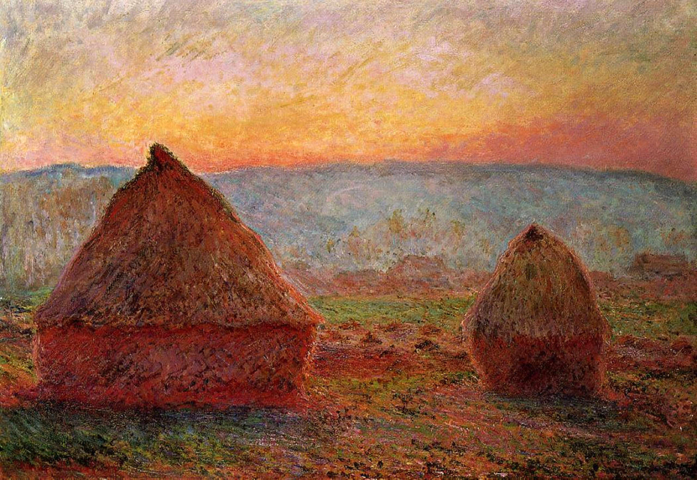 Monet's Haystack's evening