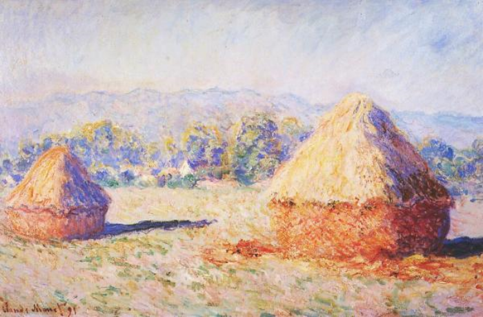 Monet's Haystacks early morning