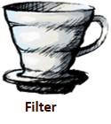 Filter Kaffee im Schönbergers