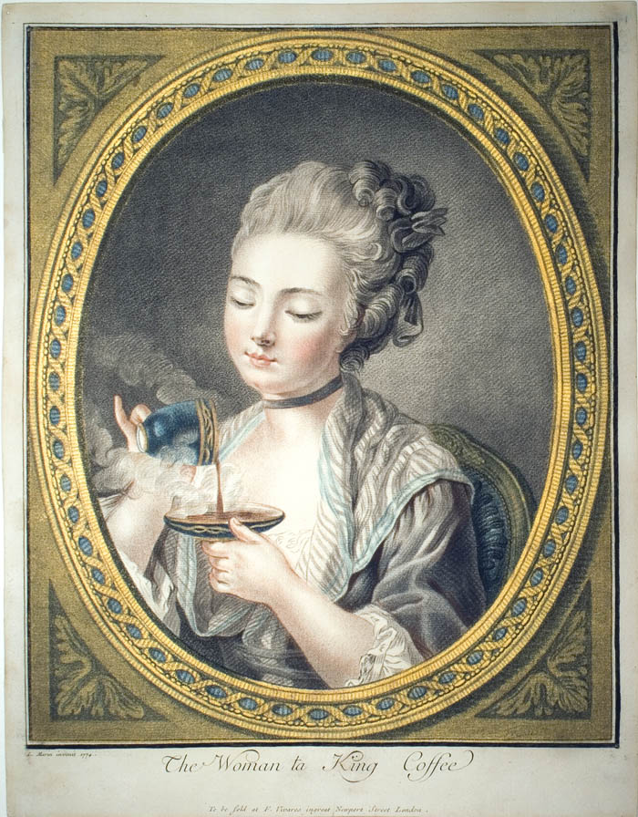 The Woman Taking Coffee, 1774 by Louis-Marin Bonnet (1736-1793),