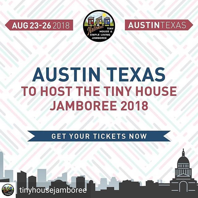 The @tinyhousejamboree is right around the corner and it was a blast last year!  Are you planning on attending this year?  #tinyhousejamboree #tinyhousevillage #tinyhousemovement #keepaustinweird #goingtiny #tinyhousenation #Skoolies #tinyhouseonwheels #tinyhouseexperts #texasorbust