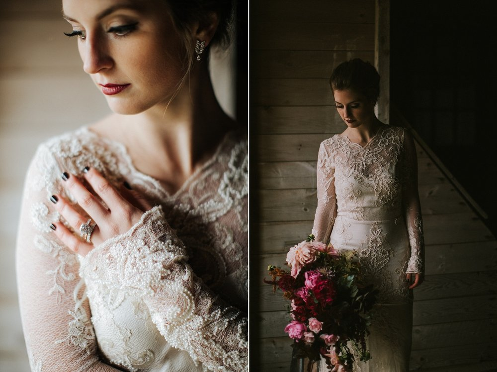 moody maine wedding inspiration photographer